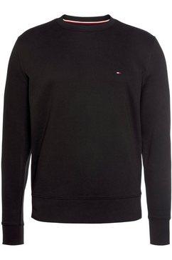 tommy hilfiger sweatshirt hilfiger logo crewneck zwart