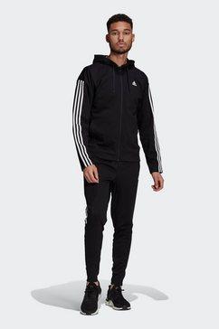 adidas performance trainingspak »adidas sportswear ribbed insert« zwart
