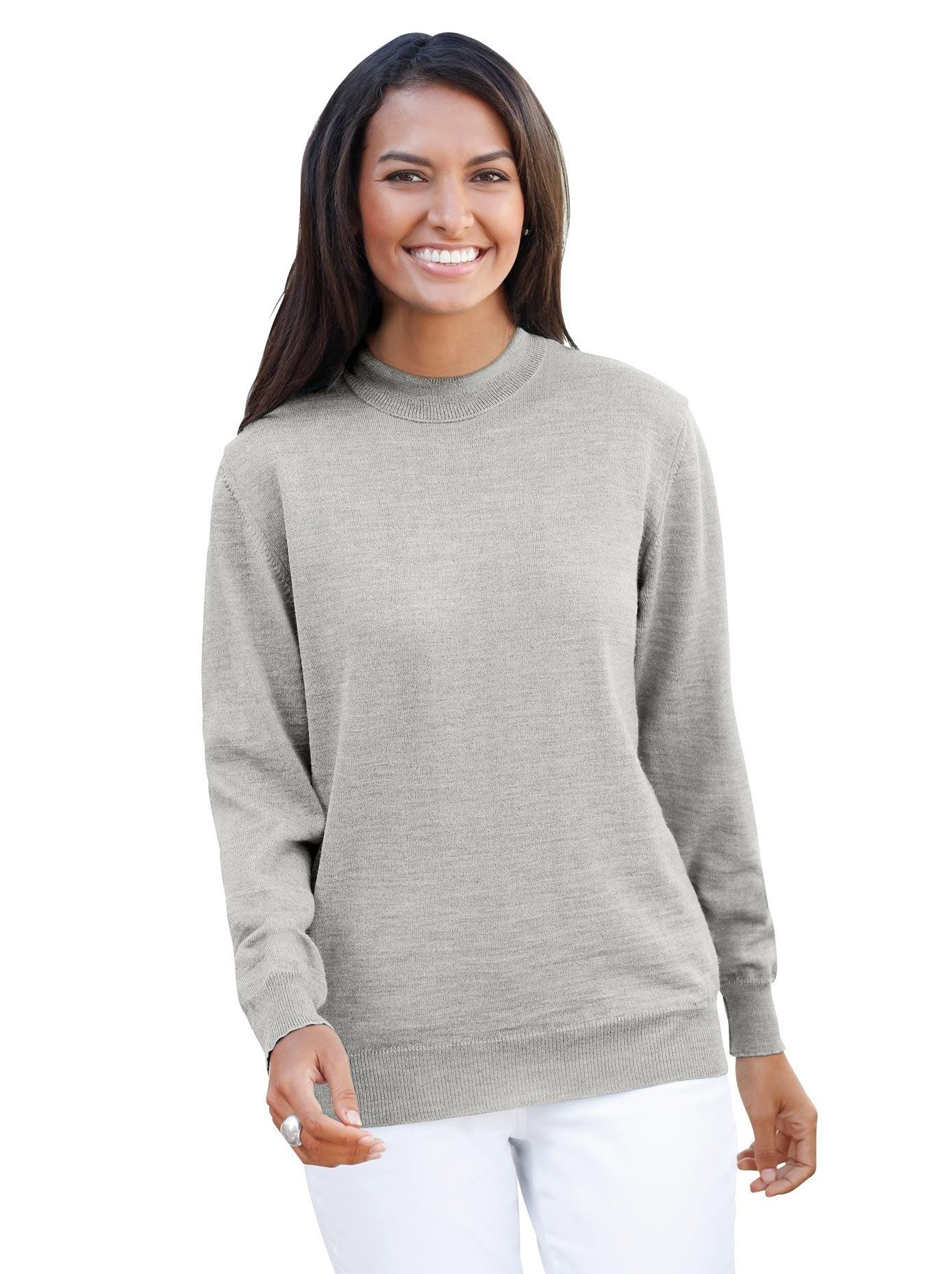 Casual Looks trui met staande kraag van hoogwaardige merinoswol bij OTTO online kopen