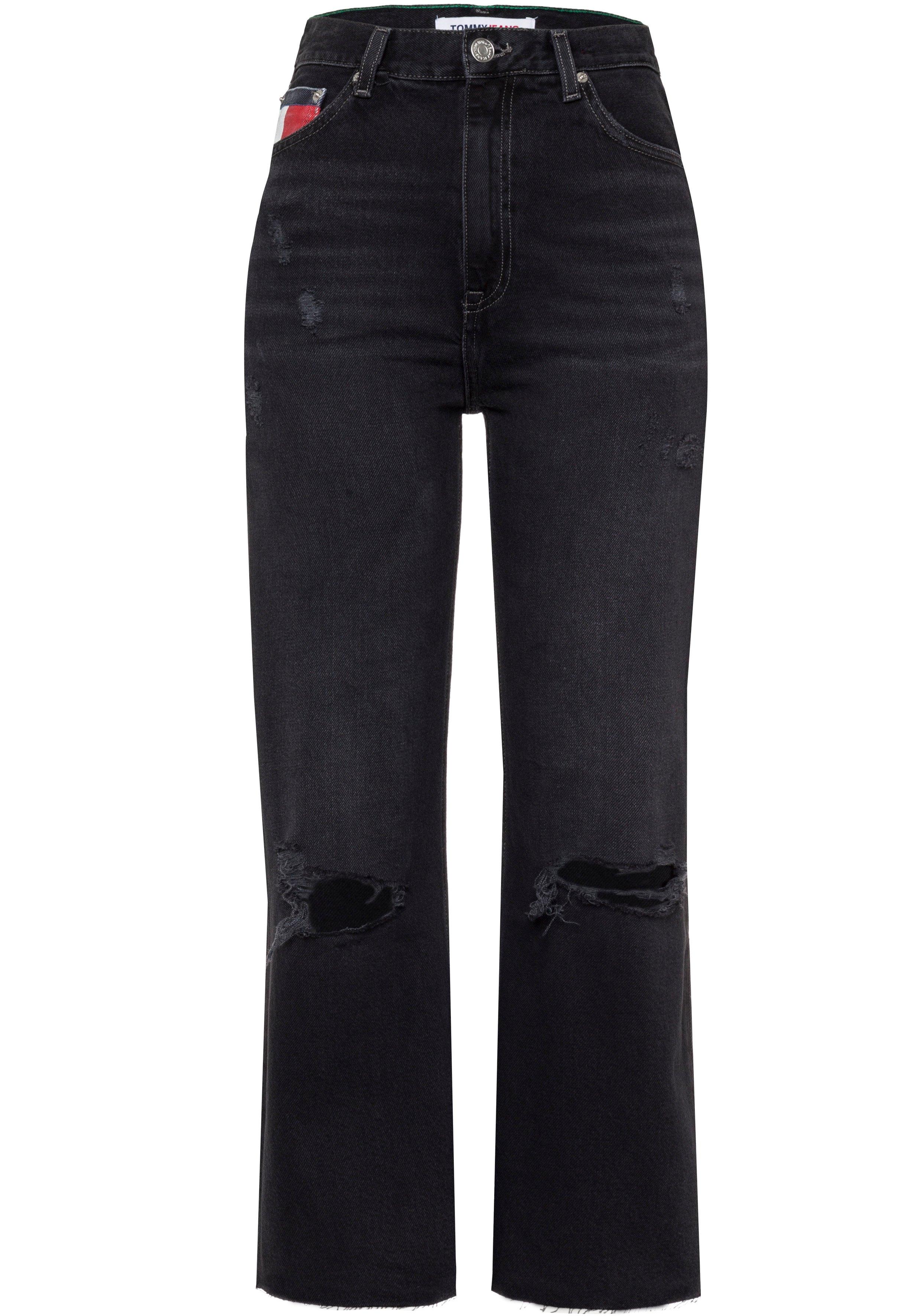 TOMMY JEANS ankle jeans HARPER HR FLARE ANKLE in five-pocketsmodel en met faded-out-effecten - verschillende betaalmethodes