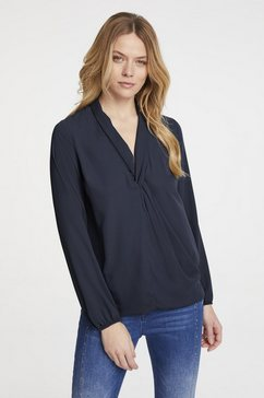 blouse in wikkel-look blauw