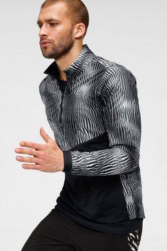 nike runningshirt »men's 1-2-zip running top« zwart
