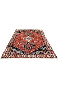 morgenland wollen kleed yalameh vloerkleed met de hand geknoopt terracotta handgeknoopt rood