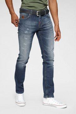 bruno banani slim fit jeans »owen« blauw