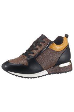 la strada sneakers met sleehak trendy krokomotief bruin