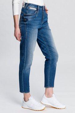 herrlicher skinny jeans »piper high conic organic« blauw