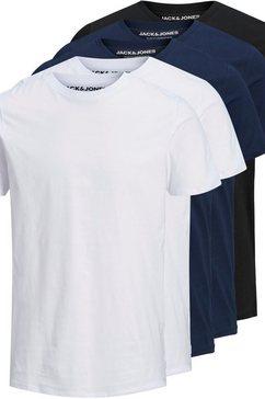 jack  jones t-shirt organic basic tee (set, 5-delig, set van 5) wit