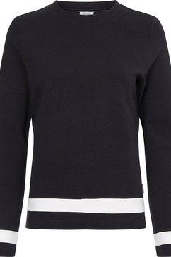 calvin klein shirt met lange mouwen ottoman colour block ls top met contrastkleurige details zwart