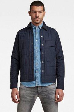 g-star raw field-jacket quilted overshirt pabe poplin blauw