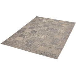 dekowe vloerkleed makan platweefsel, patchworkdesign, woonkamer grijs
