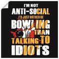 artland artprint grappig motto voor bowling-fans in vele afmetingen  productsoorten - artprint van aluminium - artprint voor buiten, artprint op linnen, poster, muursticker - wandfolie ook geschikt voor de badkamer (1 stuk) geel