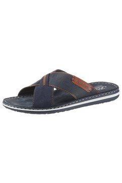 rieker slippers met contraststiksel blauw