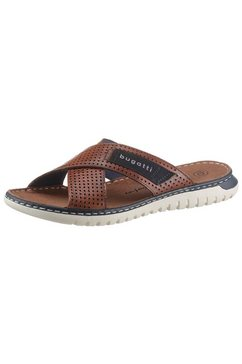 bugatti slippers idaho met logo-garnering bruin