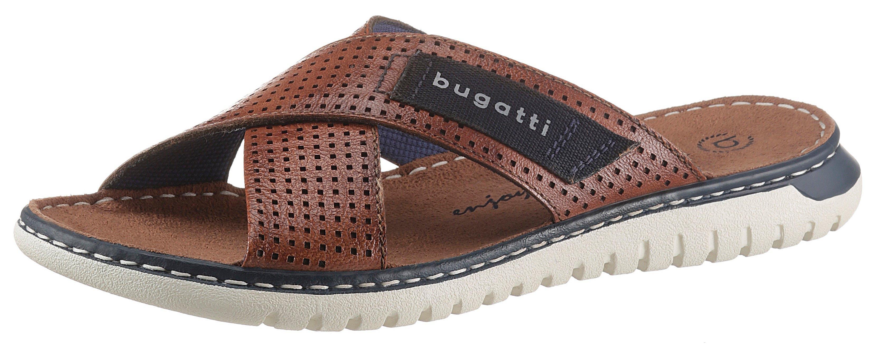 Bugatti slippers IDAHO met logo-garnering online kopen op otto.nl