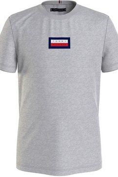 tommy hilfiger t-shirt »msw hilfiger graphic tee« grijs