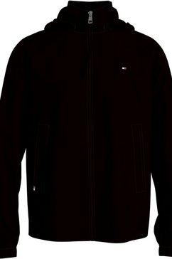 tommy hilfiger outdoorjack stand collar jacket zwart