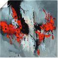 artland artprint »fliegende mohnblumen« rood