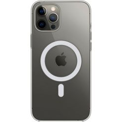 apple gsm-hoesje iphone 12 pro max clear case with magsafe wit