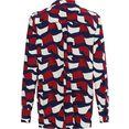 tommy hilfiger gedessineerde blouse viscose printed blouse ls met all-over print in de kenmerkende tommy kleuren blauw