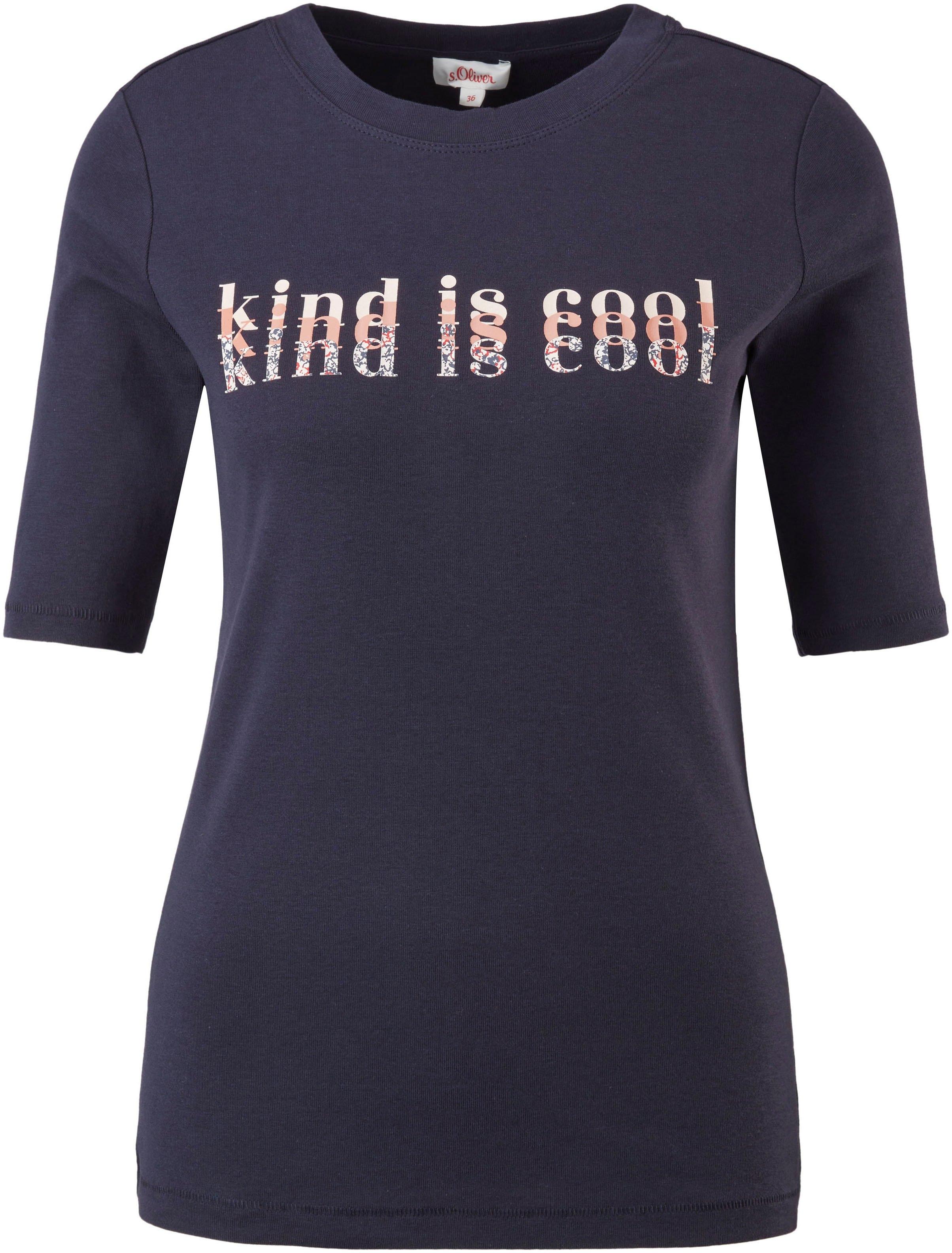 s.Oliver T-shirt met modieuze frontprint in verschillende designs - gratis ruilen op otto.nl
