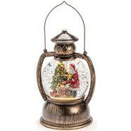 konstsmide decoratieve ledverlichting led bollantaarn kerstman, voor binnen, 1 warmwitte diode, met water gevuld, met 5 uur timerfunctie, werkt op batterijen goud