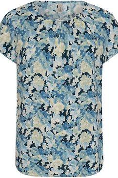 soyaconcept top sc-odessa1 iets luchtige blousestof blauw
