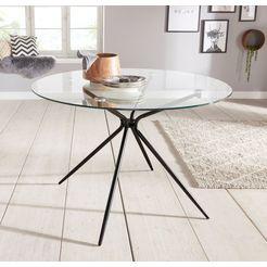 glazen tafel silvi zwart