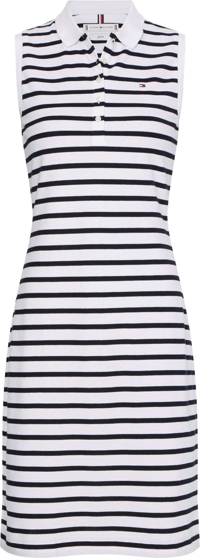 Tommy Hilfiger Polojurk Slim Polo Dress NS met tommy hilfiger-merklabel nu online bestellen
