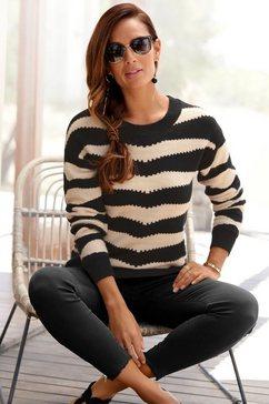 lascana trui met ronde hals zwart