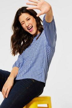 street one shirt met 3-4-mouwen blauw