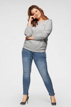 arizona sweatshirt met logoborduursel grijs