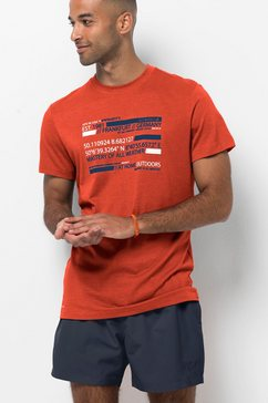 jack wolfskin t-shirt oranje