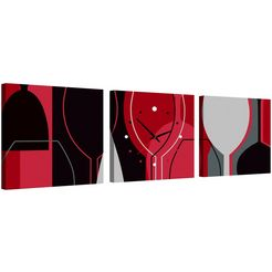 conni oberkircher´s wanddecoratie »wine glass« rood