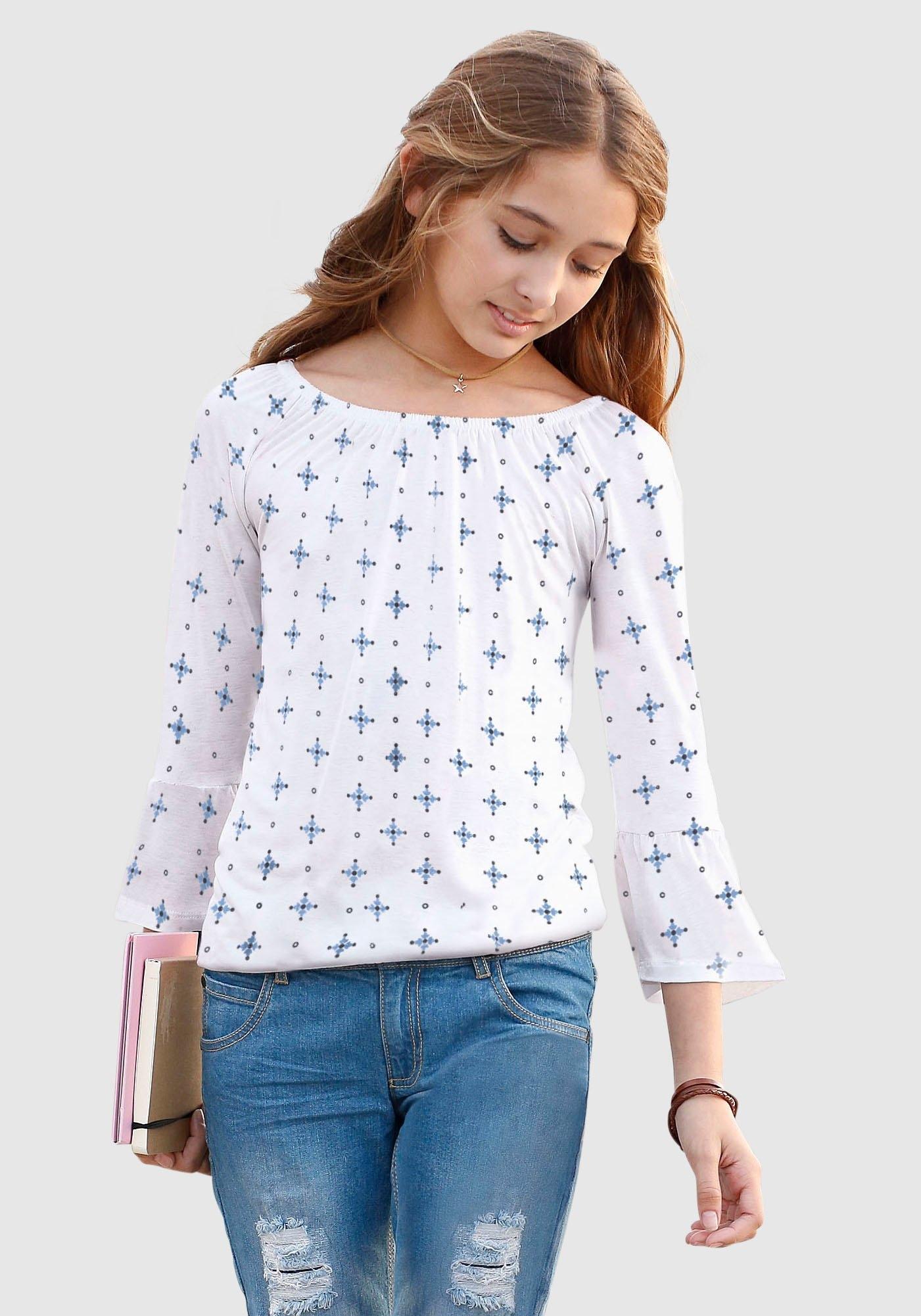 Arizona Shirt met carmenhals met elastiek in de zoom online kopen op otto.nl
