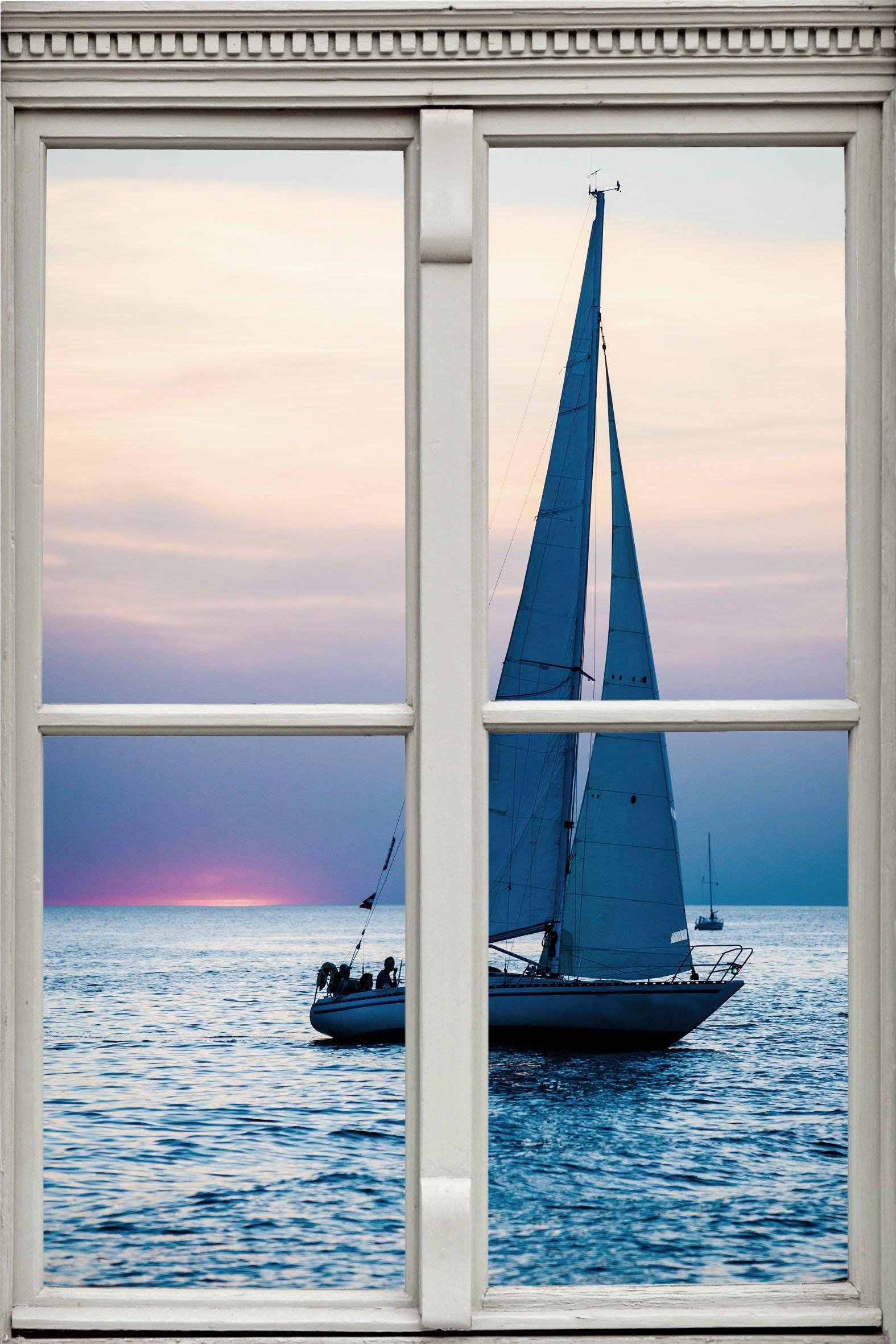 queence Wandfolie »Segelschiff« online kopen op otto.nl