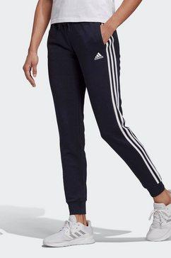 adidas performance joggingbroek »essentials french terry 3-streifen« blauw