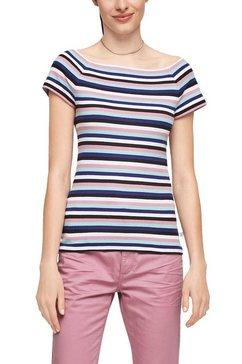 q-s designed by shirt met carmenhals met raglanmouwen multicolor