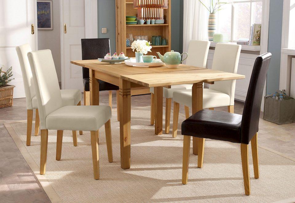 Massief Houten Tafel : Massief houten eettafel snel online gekocht otto