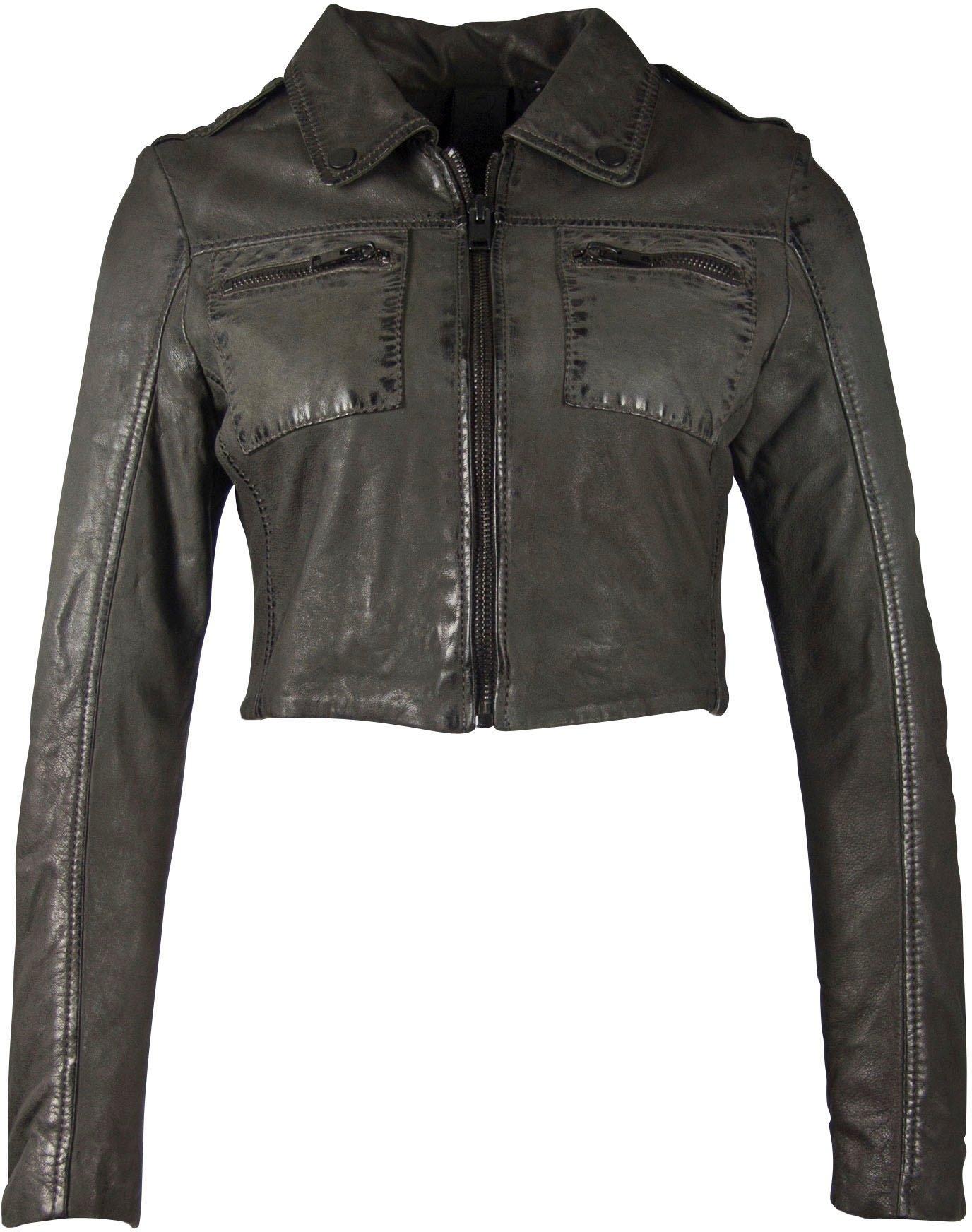 Op zoek naar een Gipsy Leren jack Malin trendy kort model met biker-details? Koop online bij OTTO