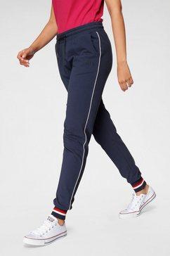 h.i.s joggingbroek athleisure jogging pants met witte piping blauw
