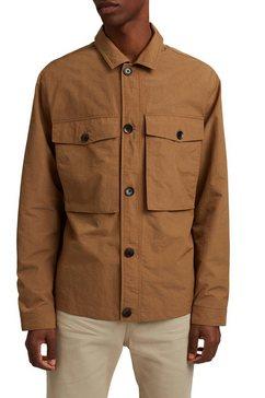 esprit field-jacket met markante borstzakken bruin
