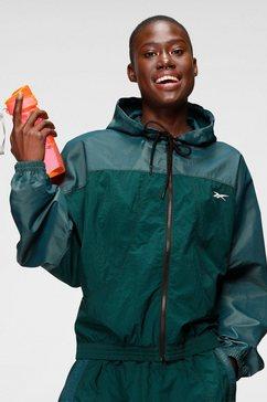 reebok trainingsjack sh q1 woven jacket groen