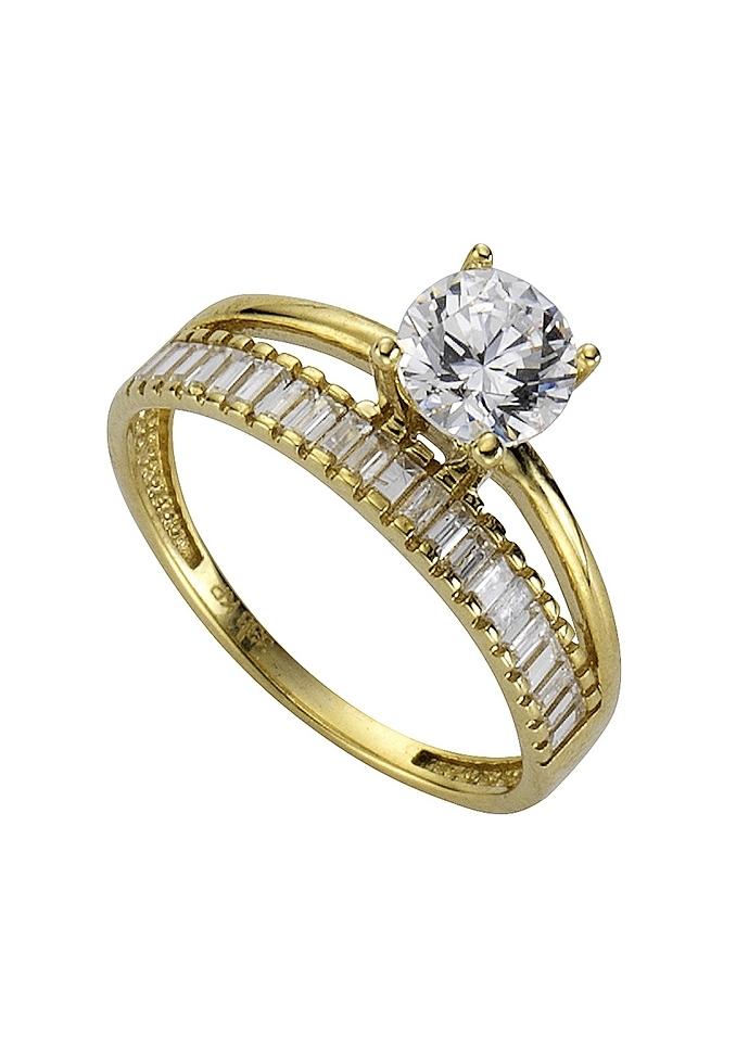Firetti gouden ring met zirkoon nu online kopen bij OTTO