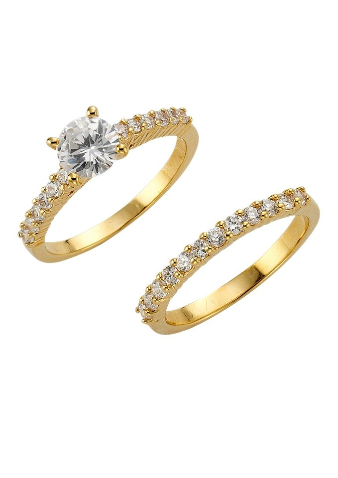 FIRETTI sieradenset: ringen met zirkoon (2-dlg.)