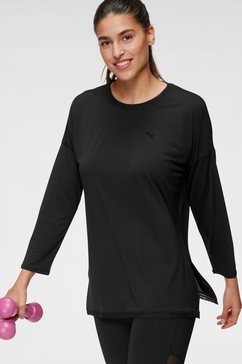 puma shirt met lange mouwen »studio graphene long sleeve top« zwart