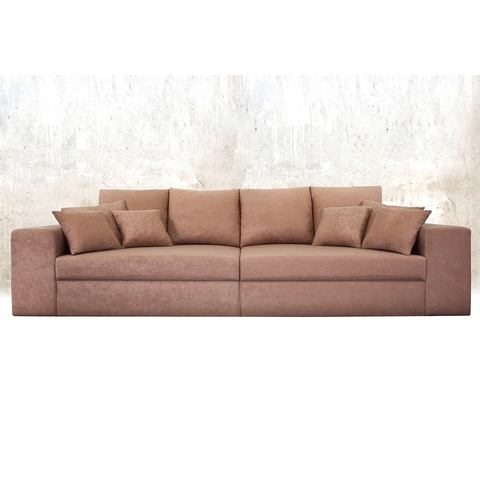 woonkamer extra groot bankstel bruin Megabank ook met slaapfunctie 20