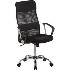 duo collection bureaustoel regensburg met verchroomd onderstel zwart