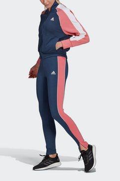 adidas performance trainingspak bomber jacket and s (set, 2-delig) blauw