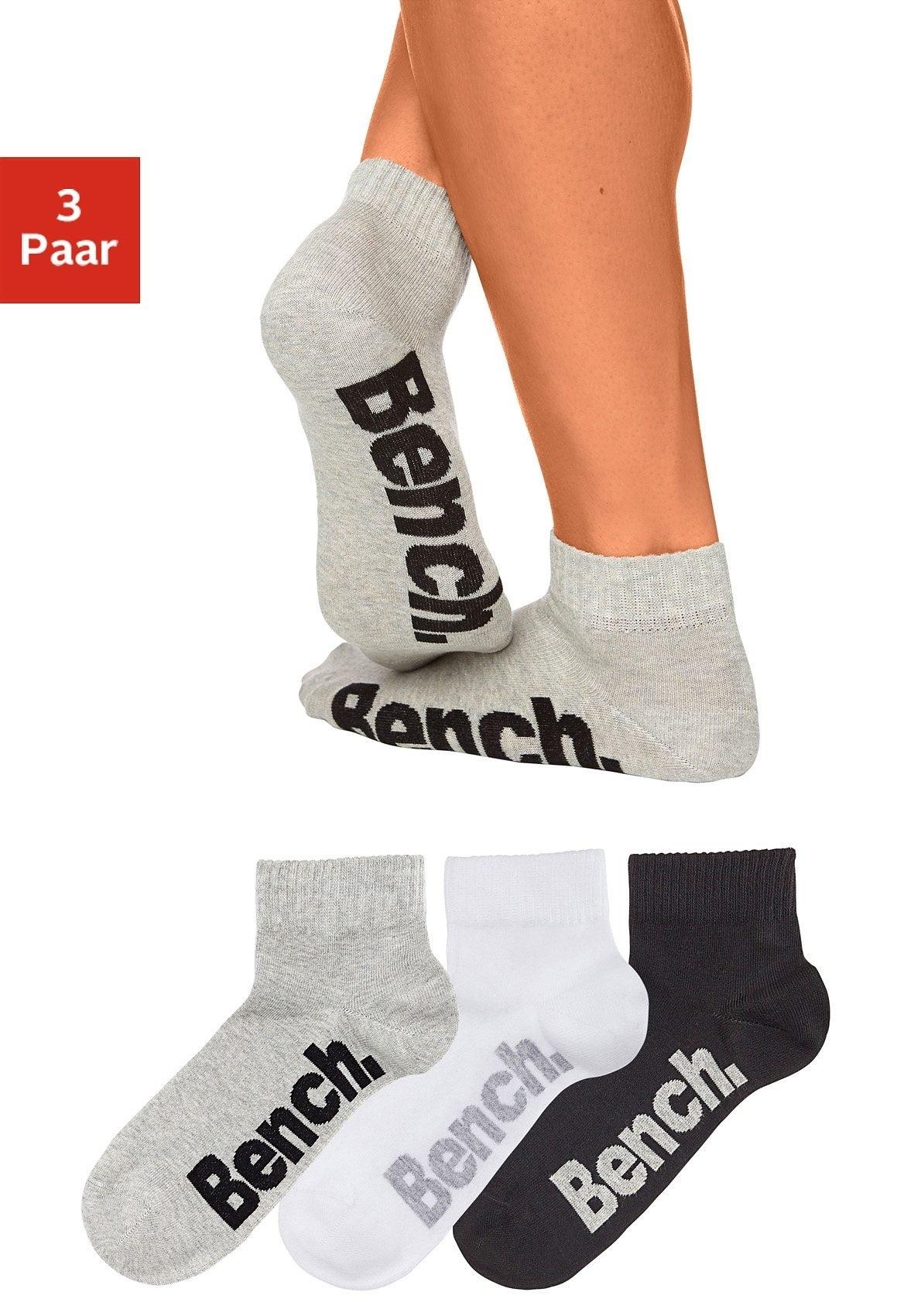 Bench. korte sokken met comfortabele ribboorden (3 paar) online kopen op otto.nl