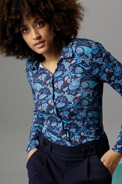 aniston selected overhemdblouse in kleurrijk paisleymotief - nieuwe collectie multicolor